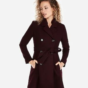NWT Express Belted Wool Blend Trench Coat